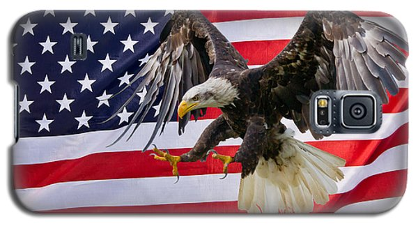 Eagle And Flag Galaxy S5 Case by Scott Carruthers