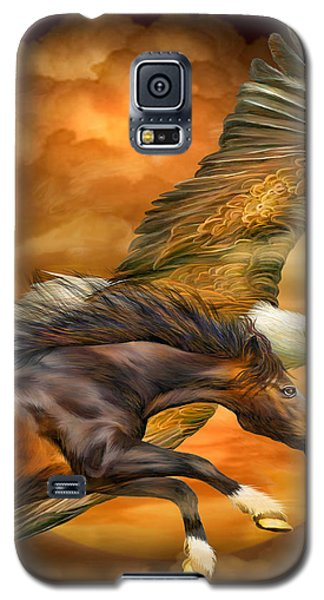 Eagle And Horse - Spirits Of The Wind Galaxy S5 Case