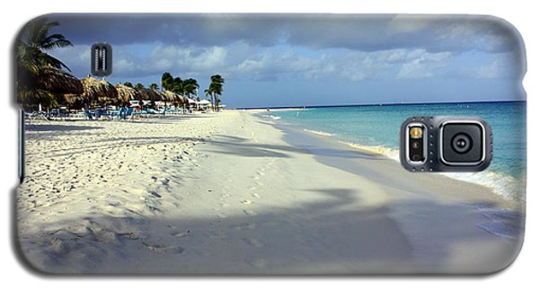Galaxy S5 Case featuring the photograph Eagle Beach Aruba by Suzanne Stout