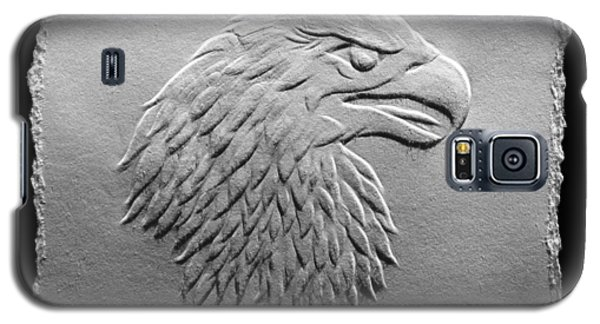 Galaxy S5 Case featuring the relief Eagle Head Relief Drawing by Suhas Tavkar