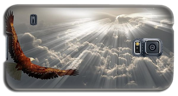 Eagle In Flight Above The Clouds Galaxy S5 Case by Bruce Rolff