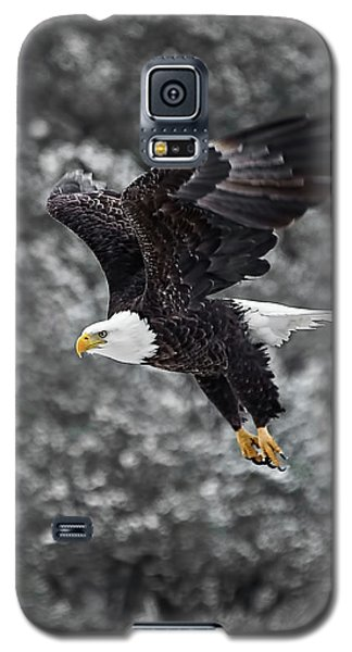 Galaxy S5 Case featuring the photograph Eagle In Flight by Britt Runyon