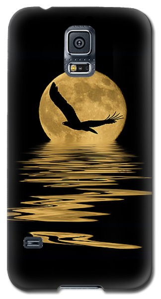 Eagle In The Moonlight Galaxy S5 Case by Shane Bechler