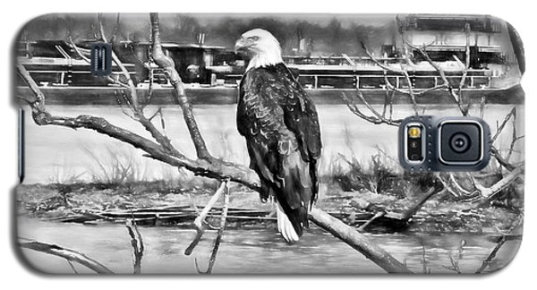 Eagle On The Illinois River Galaxy S5 Case by John Freidenberg