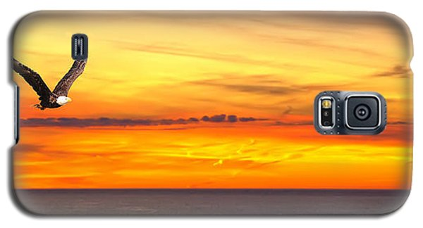 Eagle Panorama Sunset Galaxy S5 Case