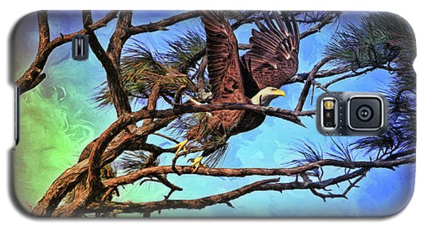 Galaxy S5 Case featuring the painting Eagle Series 2 by Deborah Benoit