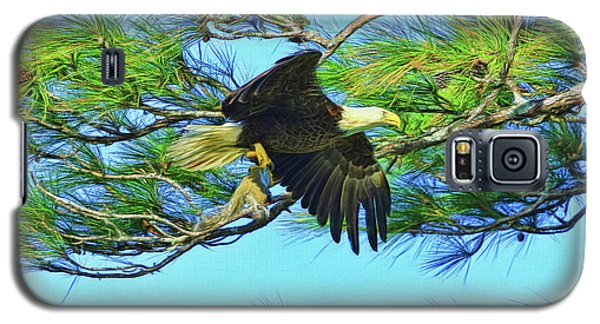 Galaxy S5 Case featuring the painting Eagle Series Food by Deborah Benoit