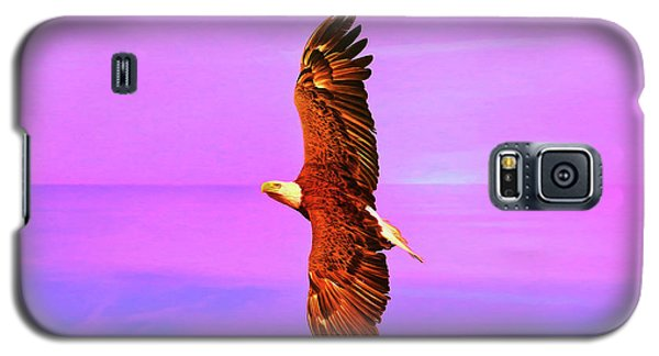 Galaxy S5 Case featuring the painting Eagle Series Painterly by Deborah Benoit