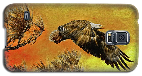 Galaxy S5 Case featuring the painting Eagle Series Strength by Deborah Benoit