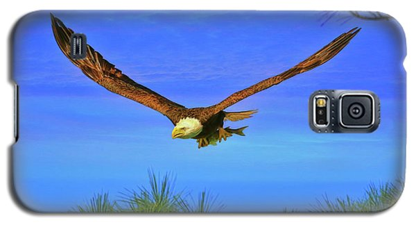 Galaxy S5 Case featuring the photograph Eagle Series Through The Trees by Deborah Benoit