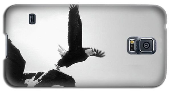 Galaxy S5 Case featuring the photograph Eagle Takeoff At Adak, Alaska by John A Rodriguez