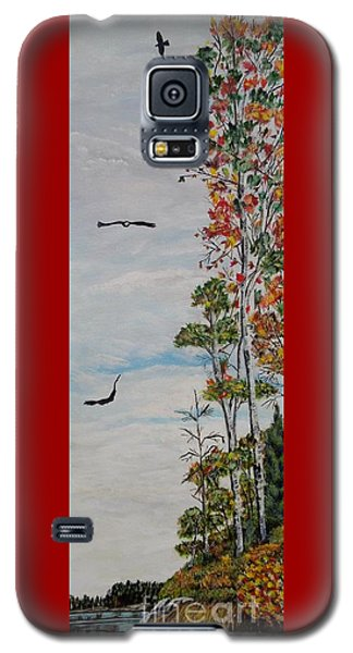 Galaxy S5 Case featuring the painting Eagles Point by Marilyn  McNish