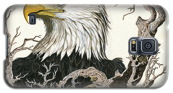 Eagle's View - Wildlife Painting Galaxy S5 Case by Linda Apple