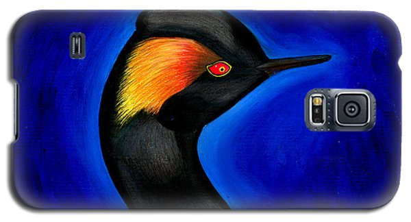 Galaxy S5 Case featuring the painting Eared Grebe Duck by Fanny Diaz