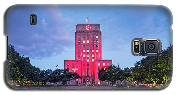 Early Dawn Architectural Photograph Of Houston City Hall And Hermann Square - Downtown Houston Texas Galaxy S5 Case