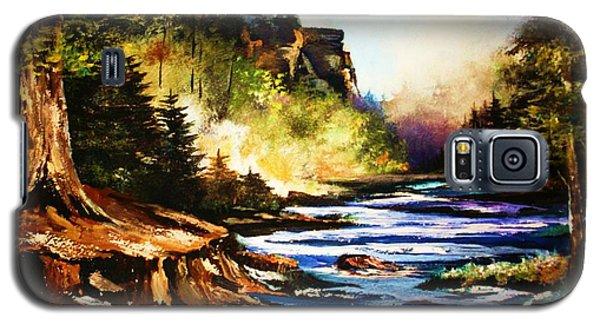 Early Dawn Campfire Galaxy S5 Case by Al Brown