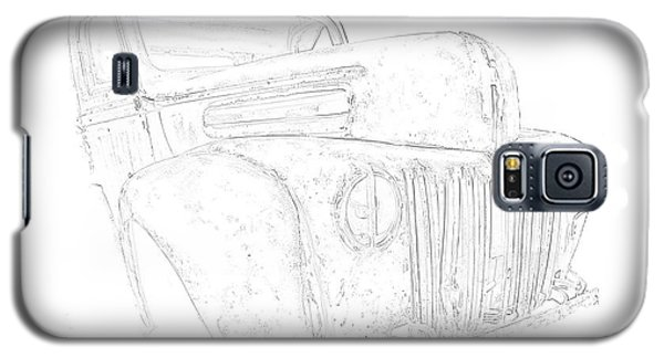 Galaxy S5 Case featuring the photograph Early Ford Truck by Jeffrey Jensen