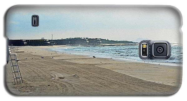 Early Morning Beach Silver Gull Club Galaxy S5 Case