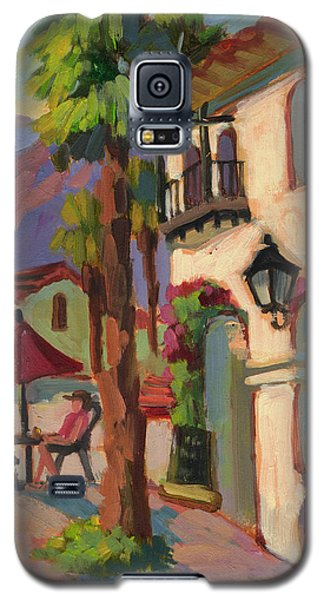 Early Morning Coffee At Old Town La Quinta Galaxy S5 Case by Diane McClary
