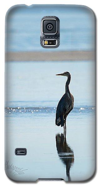 Early Morning Heron Galaxy S5 Case