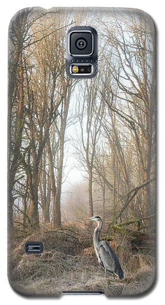 Galaxy S5 Case featuring the photograph Early Morning In The Backwoods by Angie Vogel