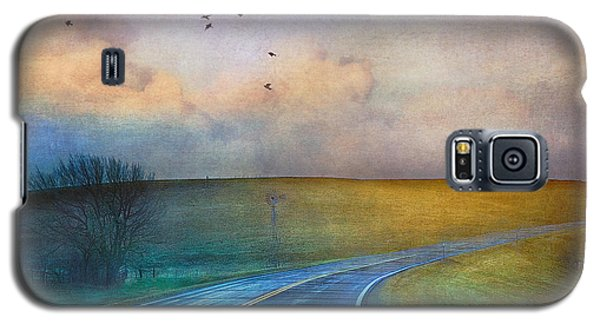 Early Morning Kansas Two-lane Highway Galaxy S5 Case