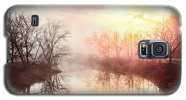 Galaxy S5 Case featuring the photograph Early Morning On The River by Debra and Dave Vanderlaan