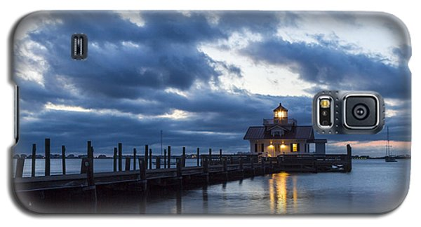 Early Morning Over Roanoke Marshes Lighthouse Galaxy S5 Case