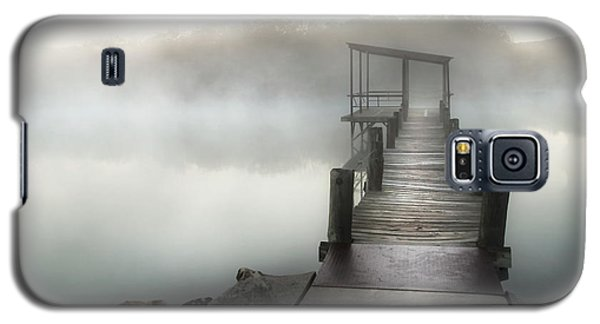 Galaxy S5 Case featuring the photograph Yesterday's Early Morning Pier by Tamyra Ayles