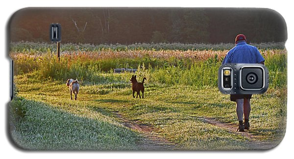 Early Morning Walk With Friends Galaxy S5 Case