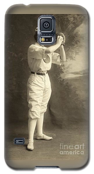 Early Portrait Of A Woman Baseball Player Galaxy S5 Case