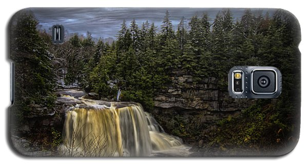 Early Snow At Black Water Falls Galaxy S5 Case