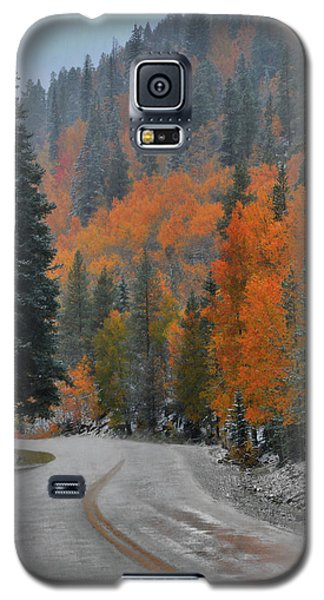 Galaxy S5 Case featuring the photograph Early Snow by Dana Sohr