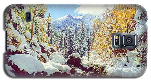 Galaxy S5 Case featuring the photograph Early Snow by Eric Glaser
