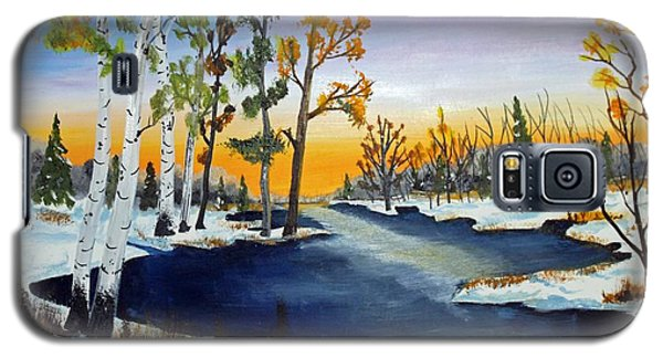 Early Snow Fall Galaxy S5 Case by Jack G Brauer