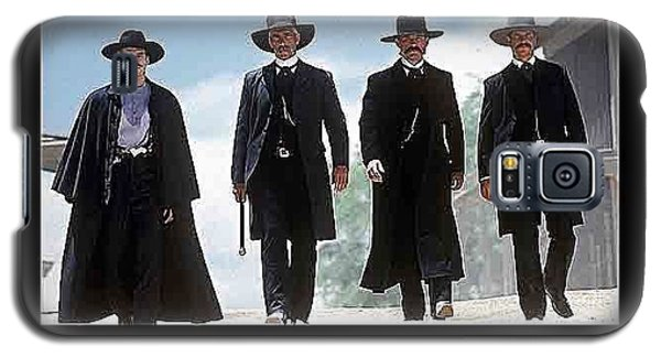 Earp Brothers And Doc Holliday Approaching O.k. Corral Tombstone Movie Mescal Az 1993-2015 Galaxy S5 Case