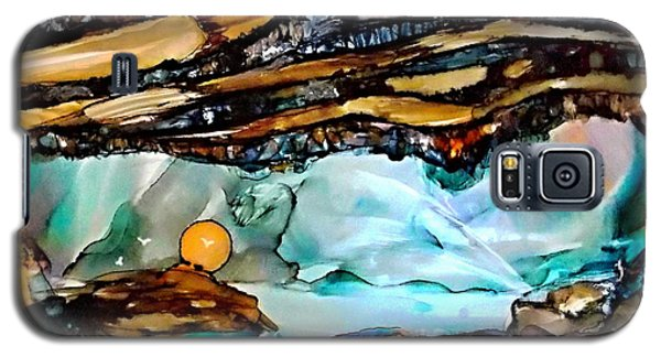 Earth Day Underground Paradise Alcohol Inks Galaxy S5 Case