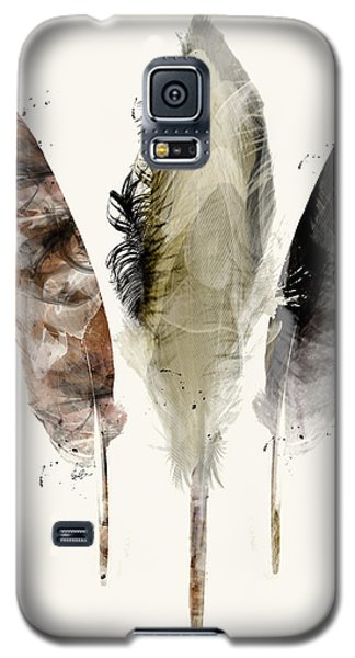 Galaxy S5 Case featuring the painting Earth Feathers by Bri B