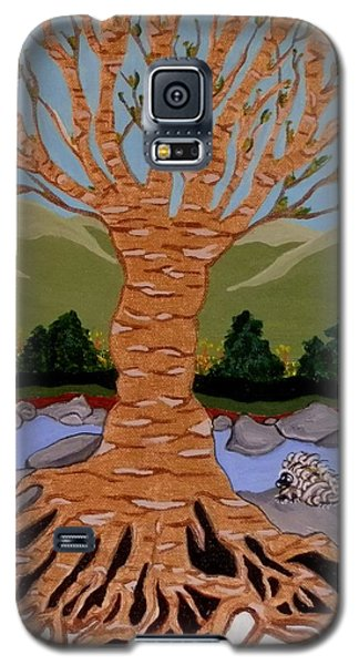 Galaxy S5 Case featuring the painting Earth Mother by Carolyn Cable