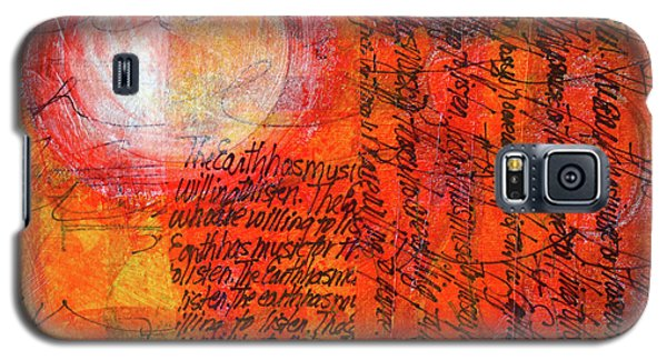Galaxy S5 Case featuring the mixed media Earth Music by Nancy Merkle