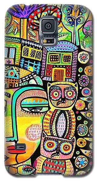 Earth Owl Goddess Galaxy S5 Case