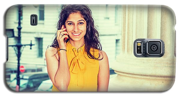 East Indian Woman Calling Outside Galaxy S5 Case