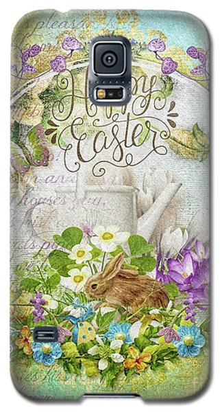 Galaxy S5 Case featuring the mixed media Easter Breakfast by Mo T