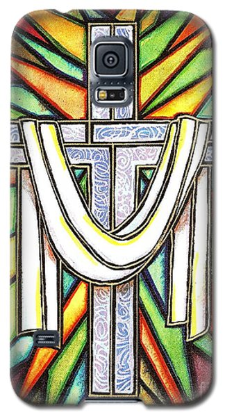 Galaxy S5 Case featuring the painting Easter Cross 5 by Jim Harris