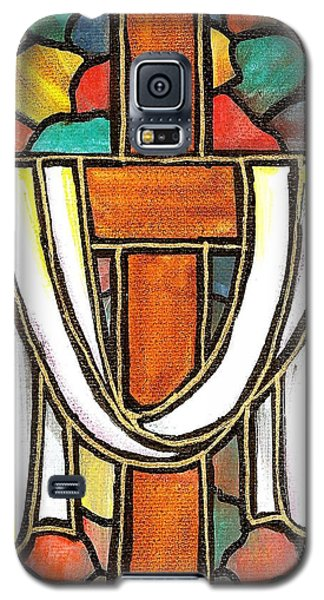 Galaxy S5 Case featuring the painting Easter Cross 6 by Jim Harris