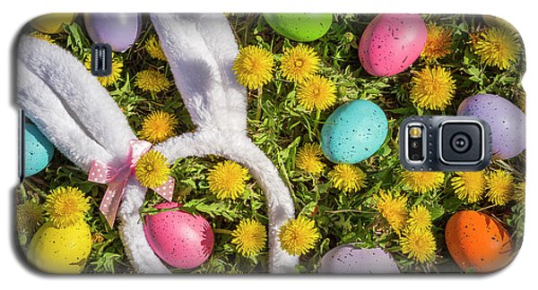 Galaxy S5 Case featuring the photograph Easter Eggs And Bunny Ears by Teri Virbickis