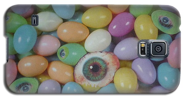 Galaxy S5 Case featuring the mixed media Easter Eyes by Douglas Fromm