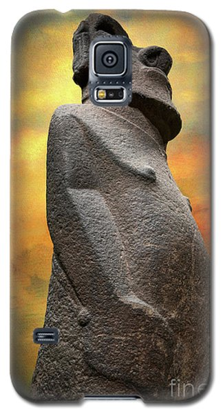 Galaxy S5 Case featuring the photograph Easter Island Moai by Adrian Evans
