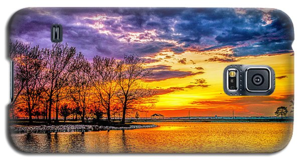 Galaxy S5 Case featuring the photograph Easter Sunset At Riverview Beach Park by Nick Zelinsky
