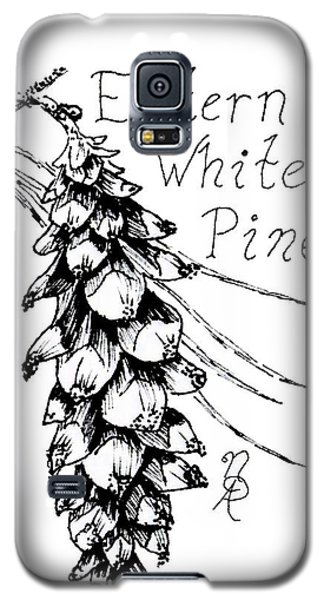 Eastern White Pine Cone On A Branch Galaxy S5 Case